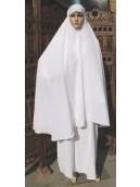 Abaya Cotton - White